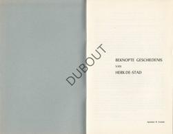 Beknopte Geschiedenis Van Herk-De-Stad - Apoteker R.Enckels (N78) - Livres, BD, Revues