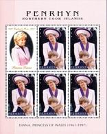 Penrhyn ( Cook ) 435 1998 Lady Di, Prince William Et Prince Harry , Chapeau - Koniklijke Families