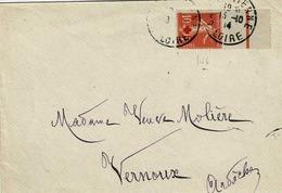 TP  N° 146 Seul Sur Enveloppe De St Etienne Pour Vernoux - Marcophilie (Lettres)