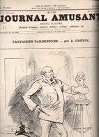 Journal Amusant N°1585 Fantaisies Parisiennes Par A. Grévin - Au Pays Par B. Gautier - Paris Sous La Neige Par Henriot - 1850 - 1899