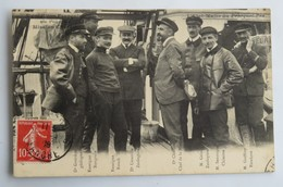 C.P.A. : Expédition Française Au Pole Sud, Mission CHARCOT, L'Etat-Major Du Pourquoi Pas, Timbre 1908 - TAAF : French Southern And Antarctic Lands