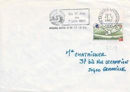 TP  N° 2209 Seul Sur Enveloppe De Grenoble Centre De Tri - Marcophilie (Lettres)