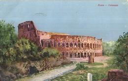 """2991 """" ROMA-COLOSSEO """" CARTOLINA POSTALE ILLUSTRATA ORIGINALE  SPEDITA - Colosseo"""