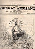 Journal Amusant N°1479 Le Thermomètre Du Ménage - Fête De Famille Par Stop - Petit Calendrier Parisien 1885 De Mars - 1850 - 1899