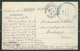 MAROC 1918 CPA Cachet Militaire Meknes - Marcophilie (Lettres)