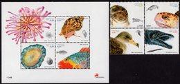 Portugal - Madeira - 2007 - Marine Life - Mint Stamp Set + Souvenir Sheet - Madeira