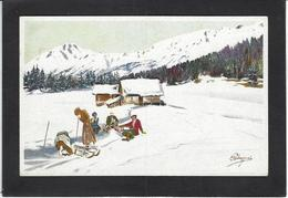 CPA Pellegrini Ski Patinage Sport D'hiver De Neige Non Circulé VOUGA M6 - Sports D'hiver