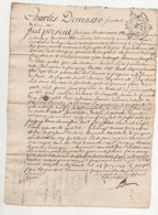 Rhône 1744 Savigny - Manuscrits