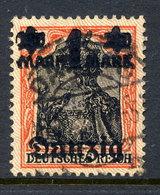 DANZIG 1920 1 Mk. On 30 Pfg. Lilac Burelage Upwards, Postally Used, Michel 41 I - Dantzig