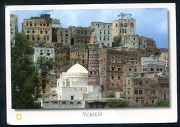 Jemen Yemen  - Pc Franked With Stamp Of UAE . Emirates . Falcon , Faucon - Yémen