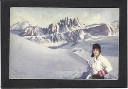 CPA Pellegrini Ski Patinage Sport D'hiver De Neige Non Circulé Série IV Guarneri - Sports D'hiver