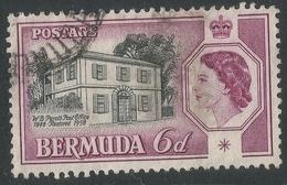Bermuda. 1959 QEII / Perot's Post Office. 6d Used. SG 156 - Bermuda