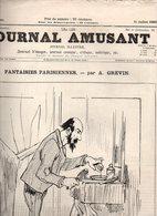 Journal Amusant N°1506 Chez Le Photographe Par B. Gautier - Les Bonnes Gens De Province - La Danse Macabre De L'amour - 1850 - 1899