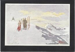 CPA Pellegrini Ski Patinage Sport D'hiver De Neige Non Circulé Publicité Belle Jardinière - Sports D'hiver