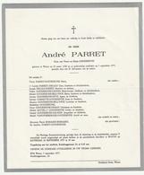 Doodsbrief André PARRET Zoon Goudeseune Watou 1938 - 1977 - Décès