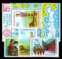 INDONESIEN INDONESIA [1971] MiNr 0685-71 ( **/mnh ) Kunst Kultur - Indonesia