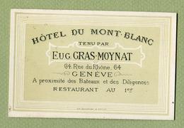"GENEVE  : "" HÔTEL DU MONT-BLANC - EUG. GRAS-MOYNAT "" - Suisse"
