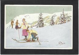 CPA Pellegrini Ski Patinage Sport D'hiver De Neige Circulé - Sports D'hiver
