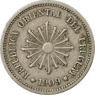 Monnaie, Uruguay, 2 Centesimos, 1909, Uruguay Mint, Paris, Berlin, Vienna, TTB - Uruguay
