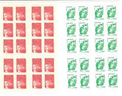 Lot De 2 Carnets De 20 TP (20 LP Et 20 LV) - Carnets
