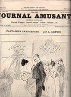 Journal Amusant N°1591 Fantaisies Parisiennes Par A. Grévin - Un Rallye-paper Au Régiment Par Josias - Croquis Parisiens - 1850 - 1899