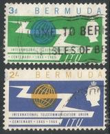 Bermuda. 1965 ITU Centenary. Used Complete Set. SG 184-185 - Bermudes