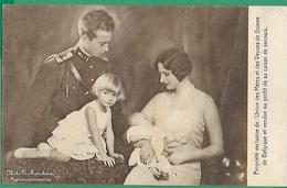 ! - Belgique - Prince Léopold Et Princesse Astrid Avec Leurs Enfants Joséphine-Charlotte Et Baudouin - Familles Royales