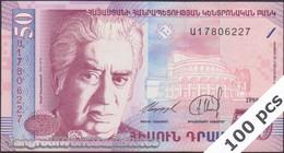 TWN - ARMENIA 41 - 50 Dram 1998 DEALERS LOT X 100 - Full Bundle UNC - Armenia