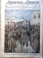 La Domenica Del Corriere 8 Aprile 1917 WW1 Ritirata Dei Tedeschi Peronne Russia - Guerra 1914-18
