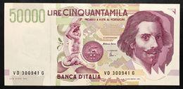 50000 LIRE BERNINI II° TIPO SERIE D 1997 Spl/sup   LOTTO 1963 - [ 2] 1946-… : Repubblica