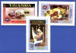 UGANDA, 2001, HOLLY YEAR, YV#1936-38, MNH - Uganda (1962-...)