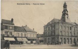 D10 - ROMILLY SUR SEINE - PLACE DE L'UNION - Horlogerie-Bijouterie - Café Des Sports - Plusieurs Personnes - Romilly-sur-Seine