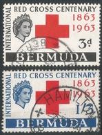 Bermuda. 1963 Red Cross Centenary. Used Complete Set. SG 181-182 - Bermudes
