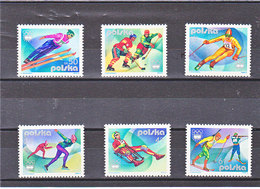POLOGNE 1976 JEUX OLYMPIQUES INNSBRUCK Yvert  2256-2261 NEUF** MNH - 1944-.... République