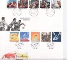 TWO FDC GREAT-BRITAIN / 2 - Briefmarken