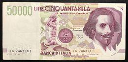50000 Lire BERNINI II° TIPO SERIE C 1995 Bb/spl LOTTO.2022 - [ 2] 1946-… : Repubblica