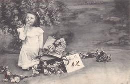"""49. CARTE FANTAISIE. """" BONNE FÊTE """". AVEC UN BAISER D'ENFANT . ANNEE 1905 - Fêtes - Voeux"""