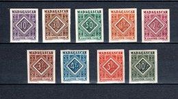 MADAGASCAR TAXE N°  31 à 39 NON DENTELES  NEUFS SANS CHARNIERE COTE 150.00€   ORNEMENT - Postage Due