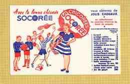 BUVARD :Les Bonnes Chicorées SOCOREE - Café & Thé