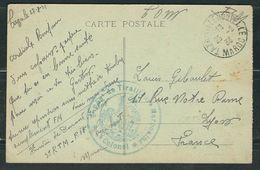 MAROC 1933 CPA Taza Rgt Tirailleurs Marocains - Marcophilie (Lettres)