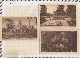 9AL737 VIET NAN SAIGON Angkor Lot De 3 Cartes 1 Pliée2 SCANS - Viêt-Nam