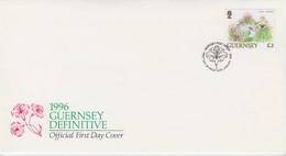 FDC GUERNSEY 3£ FLORAL FANTASIA / 2 - Timbres