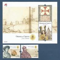 Portugal  2019 , Ordem De Cristo 700 Anos - Sheet + Stamps - Postfrisch / MNH / (**) - 1910-... République