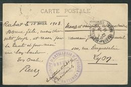 MAROC 1913 CPA Rabat Groupe D'artillerie D'Afrique - Marcophilie (Lettres)
