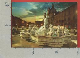 CARTOLINA NV ITALIA - ROMA - Piazza Navona - Notturno - 10 X 15 - Piazze