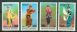 INDONESIA 1996 - TRAJES REGIONALES - YVERT Nº 1498/1501** - Textile