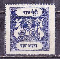 India  Bundi 1914- 1/2 A . Nero Nuovo MLH - Bundi