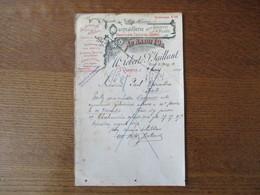 SAINT QUENTIN M. ROBERT & P. SAILLANT QUINCAILLERIE AU RABOT D'OR RUE D'ISLE 18 COURRIER DU 9 FEVRIER 1924 - France