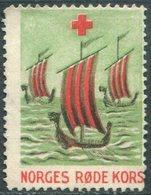 Norway 1926 Red Cross VIKING SHIP Drakkar Wikinger-Schiff Boat Boot Poster Vignette Reklamemarke Rotes Kreuz Croix Rouge - Ships