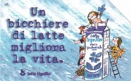 SCHEDA TELEFONICA  LATTE TIGULLIO  SCADENZA 31/12/1999 USATA - Italy